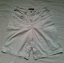Moda International Womens Cotton Shorts, Beige, Extra Small