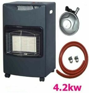 Cabinet calor Mobile Gas Heater Room Indoor Portable Ceramic Piezo Butane 4.2 kW