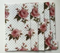 Filofax Personal Planner - Beautiful Vintage Rose Dividers - Fully Laminated