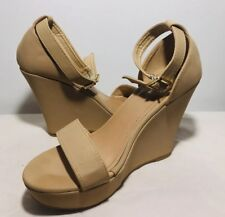 TOP Moda Women's Wedge Ankle Strappy Beryl Sandals Open Toe Size 8.5