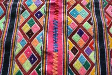 Authentic Peruvian Wool Textile with red trim, handmade in the Andes of Peru