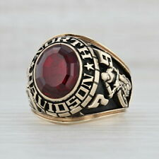 North Davidson High School Class Ring - 10k Gold Size 10 Synthetic Ruby 1979