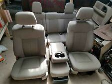 2009 2010 FORD F150 FRONT AND REAR SEAT WITH CENTER CONSOLE CLOTH OEM GRAY