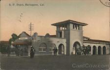 1910 Burlingame,CA Southern Pacific Depot San Mateo County Railroad Depot