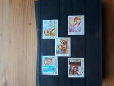 timbre luxembourg (th) lot 45   neufs   n1062/66     caritas  portraits d'enfant