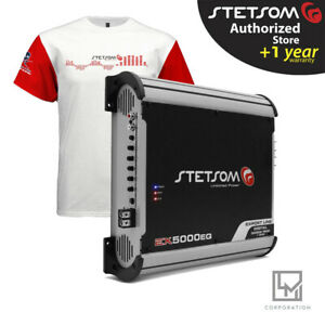 Stetsom Ex 5000 1 Ohm EQ 5000w RMS EX5000 Audio Car Amplifier Fast Delivery
