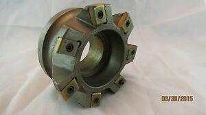 """Ingersoll Indexable 4"""" Face Mill 7 Insert CHA40158R01 + Extra Inserts New & Used"""