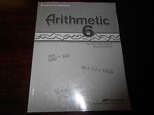 A Beka Book Arithmetic 6 Teacher key homeschooling 6th grade Test quiz drill key
