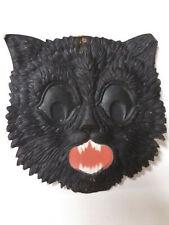 New ListingVintage German Die Cut Black Cat, Halloween, Black, Orange