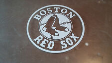 BOSTON RED SOX 5X5 white car Decal Sticker