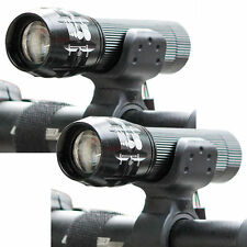 2X 10000LM 3Modes Zoomable LED Flashlight Cycling Bike Front Light with Mount