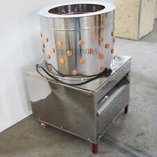 New Turkey Chicken Plucker Plucking Machine Poultry De Feather Ss304 With 2 Wheels