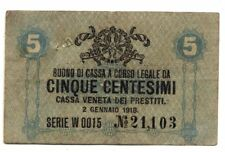 ITALIE . VENISE . BILLET . 5 CENTESIMI . 1918 .
