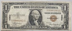 1935 A $10 Silver Certificate Hawaii Note Brown Seal