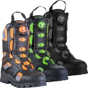 Motorfist Men's Alpha Boot Dual Boa System 800g Insulation - Orange, Green, Gray