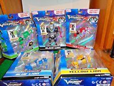 Complete Set of Five Voltron Diecast Metal Lions to Form Voltron