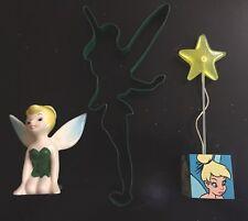 Walt Disney TINKERBELL Lot - Cookie Cutter, Photo Clip & Vintage Figurine