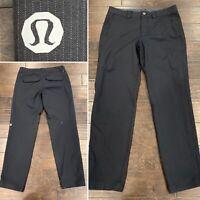 Lululemon Mens Pants Sz 34/33 Dark Gray/Black Stripe Dress or Casual VERY NICE
