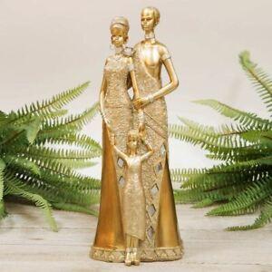 Gold Maasai Family Figurine 32cm