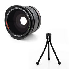 FISHEYE .42x Lens,tripod fo Canon Eos Digital Rebel T5 6 sl1 XTi w/18-55 STM 40m