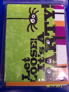 Let Loose Spider Cute Halloween Carnival Holiday Party Invitations w/Envelopes