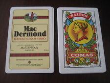 Baraja COMAS publicidad WHISKY MAC DERMOND. Playing Cards