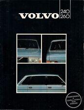 Volvo 240 & 260 Series 1981-82 UK Market Foldout Sales Brochure DL GL GLE GLT