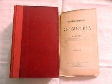TRATTATO DI GEOMETRIA Di A. MARTA Testo Tavole 1897 Paravia Libro Antico