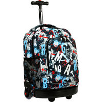 J World New York Sunny Rolling Backpack 9 Colors