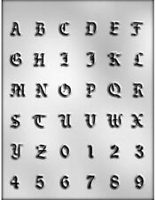Fancy Alphabet & Numbers Chocolate Candy Mold from CK  #14269 - NEW