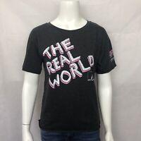MTV Graphic T Shirt Medium Short Sleeve Gray Grey Crew Neck Cotton Top New