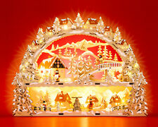 SIKORA LB78 Illuminated Wooden Christmas Arch LED Decoration WINTER VILLAGE