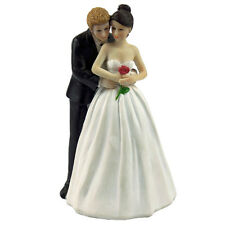 """Yes to the Rose"" Custom Bride & Groom Couple Figurine Wedding Cake Topper B6I6"