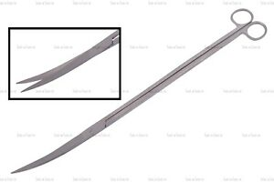 Professional 14'' Aquarium Shears/ Scissors Force Curved Blades Plant Sharp Tool