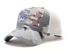 Under Armour UA Fish Hook Logo Ridge Reaper® Hydro Camo USA Flag Mesh Back Cap