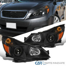 For 10-14 Subaru Legacy Outback Black Projector Head Lamps Corner Signal Lights