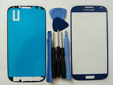 Samsung Galaxy S4 Blue Genuine Glass Replacement Screen Lens Tools + Adhesive