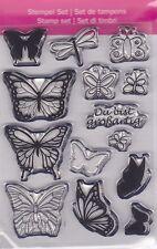 Motiv-Stempel Clearstamps Set 14 Stück Schmetterlinge Libelle efco 45 112 26