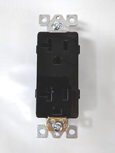 (100 pc) Decorator Duplex Receptacles 20 Amp Outlets Black Commercial Grade