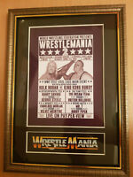 WWF Wrestlemania 2 Framed Memorabilia King Kong Bundy V Hulk Hogan Wrestling