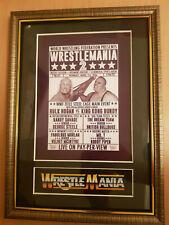 Wwf Wrestlemania 2 Framed Memorabilia King Kong Bundy V Hulk Hogan Wrestling