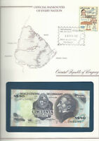 Banknotes of Every Nation Uruguay 1989 50 Pesos P 61Ab AUNC  serie G