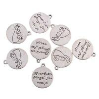 guardian angel for wealth Tibetan Silver Bead charms Pendants fit bracelet 10pcs