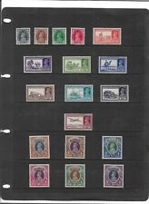 INDIA KING GEORGE VI  1937-40 PICTORIAL SET TO 25R SG.247-264 V/L MOUNTED MINT