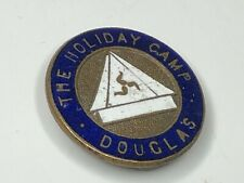 More details for antique douglas the holiday camp camping william white enamel lapel badge