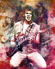 Neil Young Art Print, Neil Young Canvas, Folk rock poster