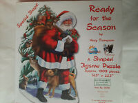 SunsOut Ready for the Season Christmas 1000 Piece Shaped Jigsaw Puzzle