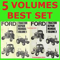 Ford 7710 2600 3600 4100 4600 Tractor Repair Service Manuals Operators Parts DVD