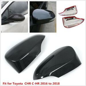 Car Reverse Mirror Protectior Shell Cover Carbon Fiber Color Fit For Toyota C-HR
