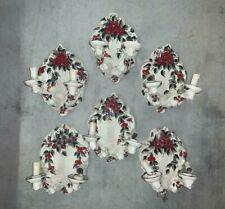 Sei appliques in ceramica Turi d'Albissola cm 33x23x20 Antikidea